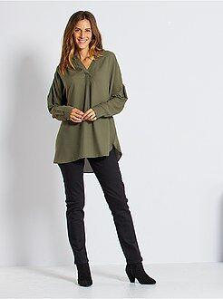 Jeans - Regular stretch jeans met hoge taille