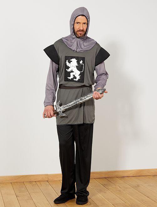 Ridder verkleedkostuum                             grijs