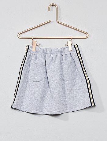 69fa82f5b91008 Meisjeskleding 3-12 jaar - Rok met strepen opzij - Kiabi