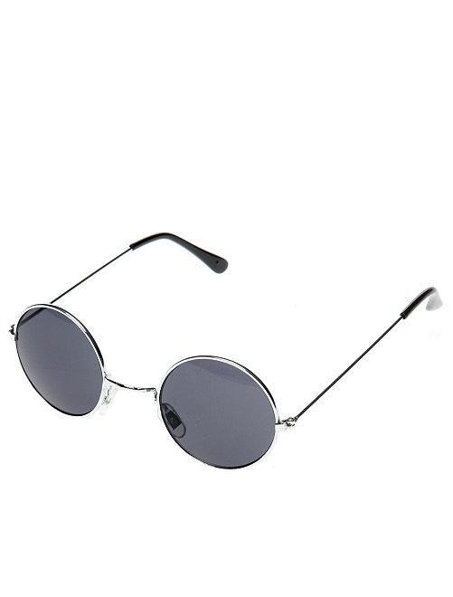 Ronde bril verkleedkleding hippie                     zwart