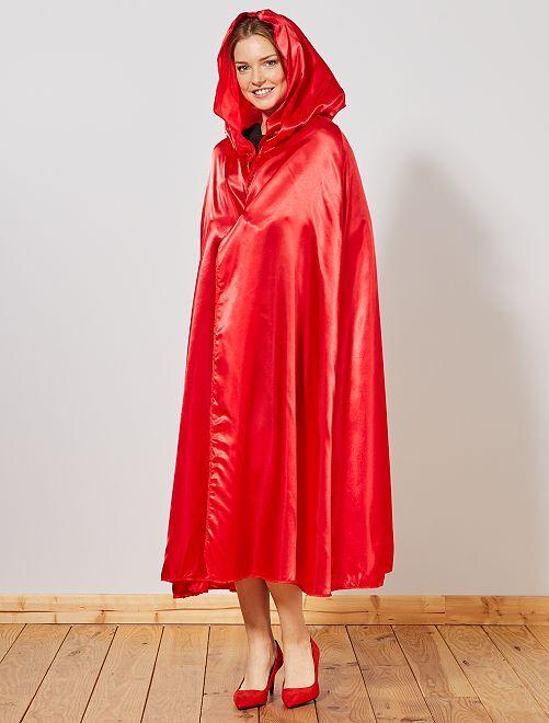 Satijnachtige cape van 'Roodkapje'                             rood