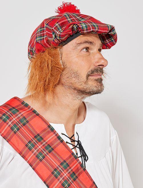 Schotse hoed met nephaar                             rood
