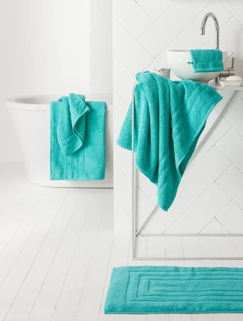 Set van 2 handdoeken van 30 x 50 cm                                                                                                                 BLAUW