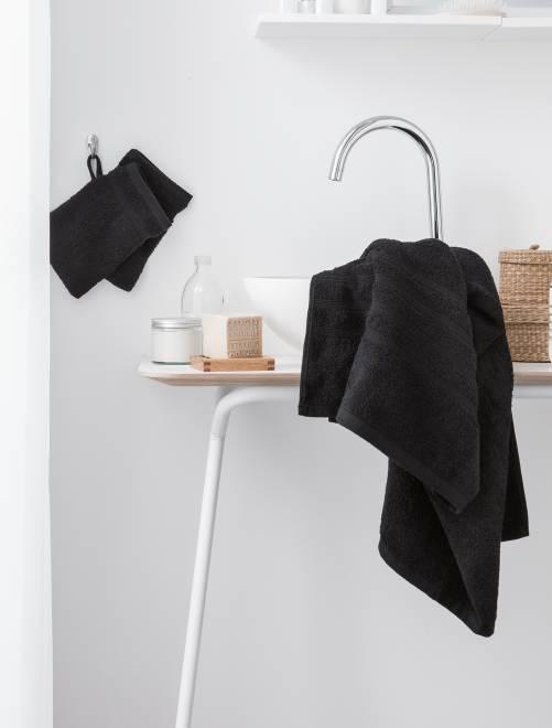 Set van 2 handdoeken van 30 x 50 cm                                                                                                                                         zwart