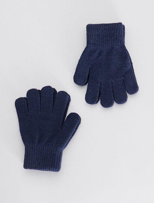 Set van 2 paar handschoenen                             BLAUW