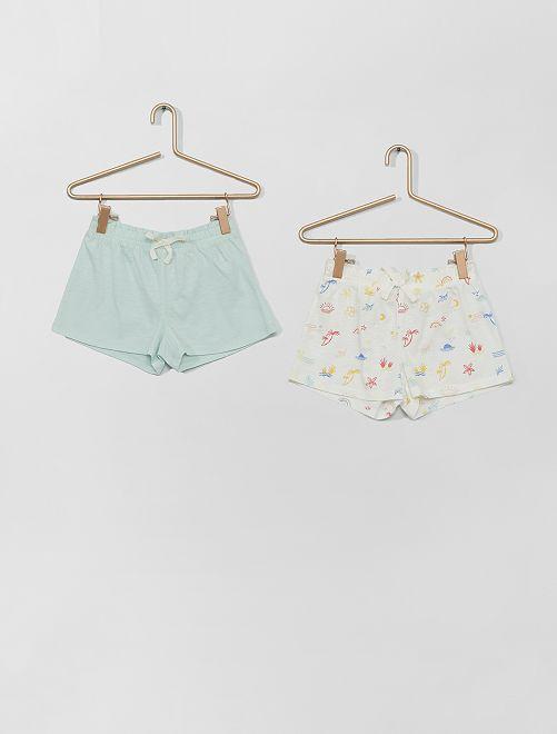 Set van 2 shorts                                                                                         BLAUW