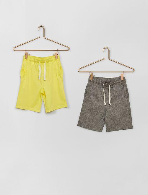 Set van 2 shorts van jerseystof                                                     GEEL