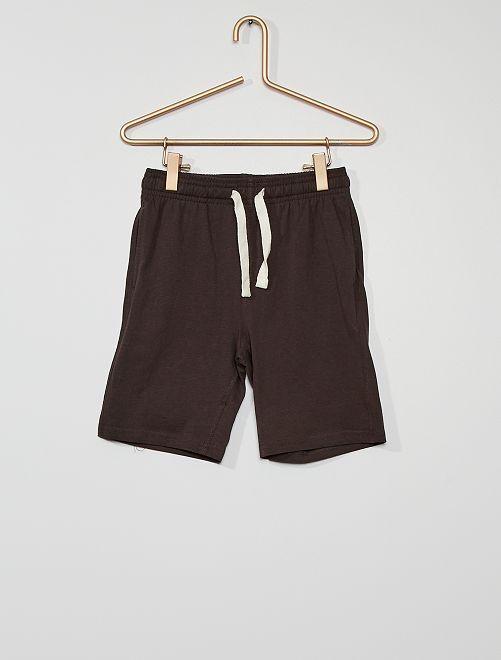 Set van 2 shorts van jerseystof                                                     ZWART