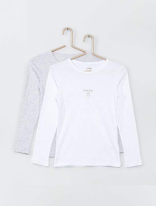 Set van 2 T-shirts 'Ecodesign'                                         BLAUW
