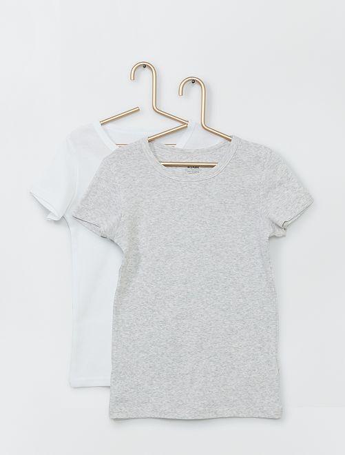 Set van 2 T-shirts 'Ecodesign'                                         GRIJS