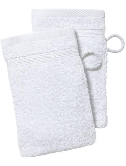 Set van 2 washandjes                                                                                                                 wit