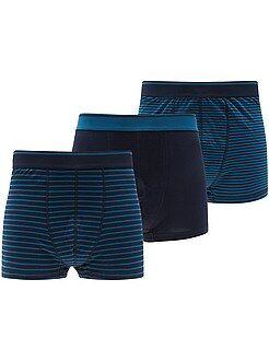 Ondergoed - Set van 3 boxershorts in grote maten