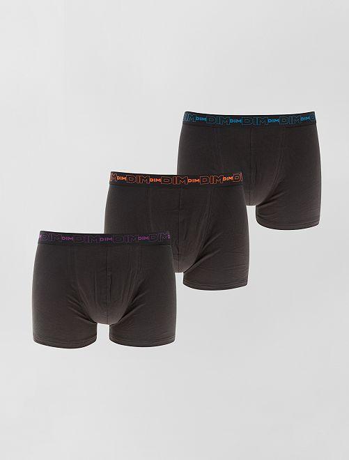 Set van 3 boxershorts van stretch katoen van DIM                                                                                         zwart