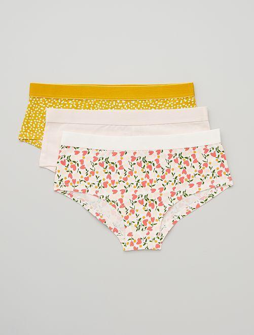 Set van 3 hipsters                                                                 GEEL/roze