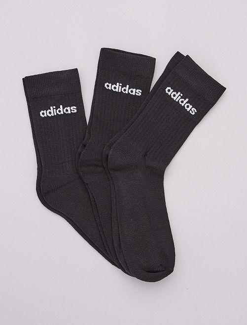 Set van 3 paar hoge sokken 'Adidas'                             ZWART