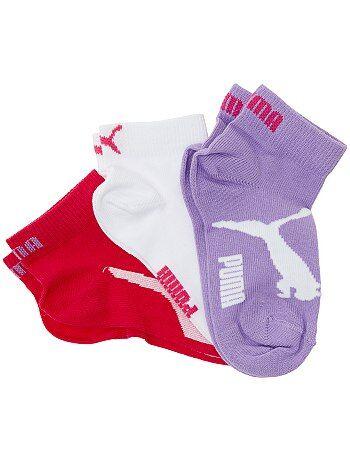 7855ee7b2ef Jongenskleding 10-18 jaar - Set van 3 paar korte  Puma  sokken met Web  exclusive