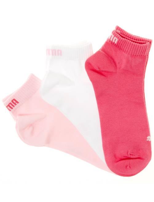 Set van 3 paar korte 'Puma' sokken                                                                                                                                         roze / wit