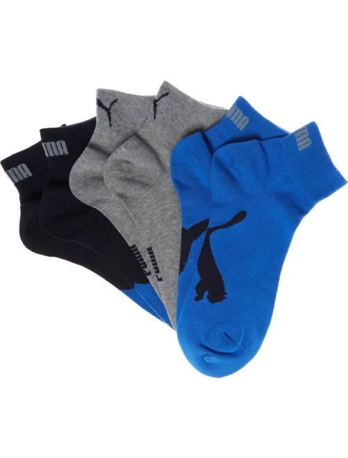 Set van 3 paar 'Puma' korte sokken                                                                                                                 blauw