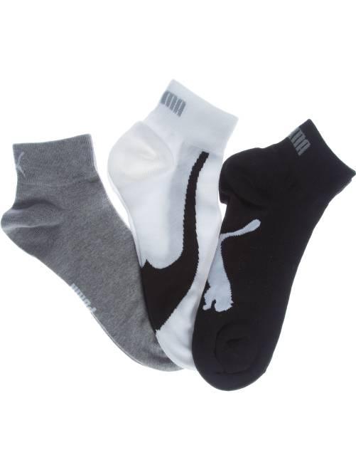 Set van 3 paar 'Puma' korte sokken                                                                                                                 wit / grijs / zwart