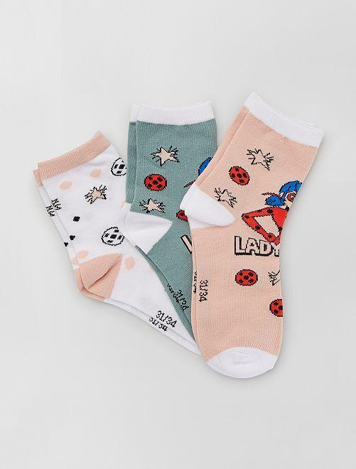 Set van 3 paar sokken 'Miraculous'                             ROSE