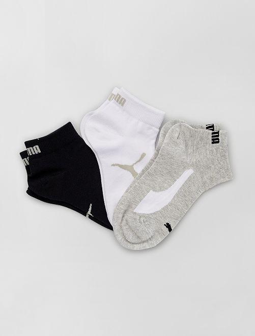 Set van 3 paar sokken 'Puma'                                                         WIT