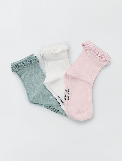 Set van 3 paar sokken                             ROSE