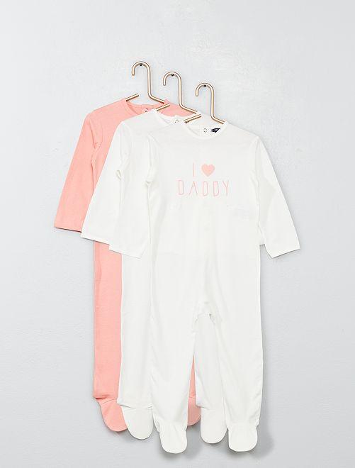 38c17d90cfeb09 Babykleding Wit.Set Van 3 Pyjama S Meisjes Babykleding Wit Kiabi 10 00