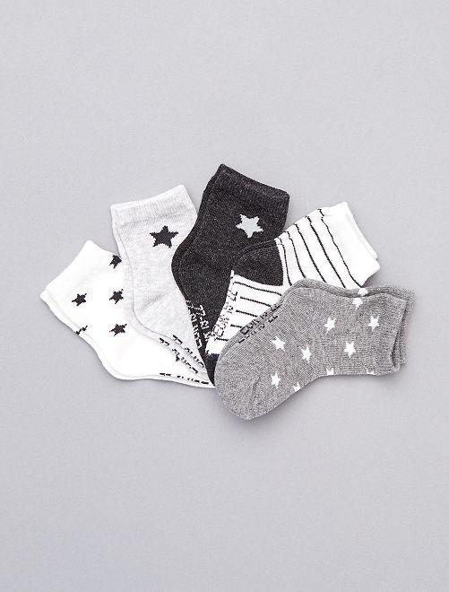 Set van 5 paar ecologisch ontworpen sokken                                                                     GRIJS
