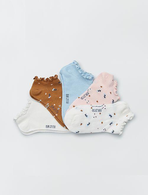 Set van 5 paar onzichtbare sokken                                         WIT