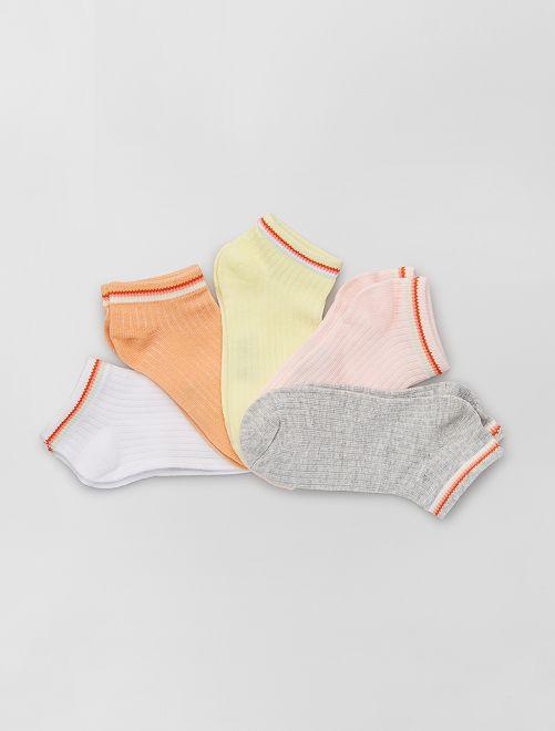 Set van 5 paar sokken 'Ecodesign'                             ROSE