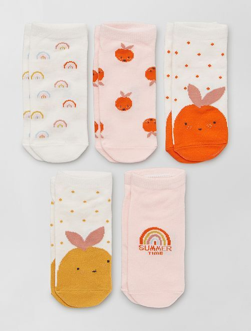 Set van 5 paar sokken 'Ecodesign'                                                                 WIT
