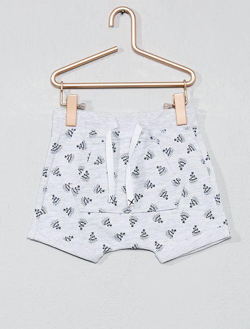 Babykleding Print.Short Met Print Jongens Babykleding Grijs Kiabi 6 00