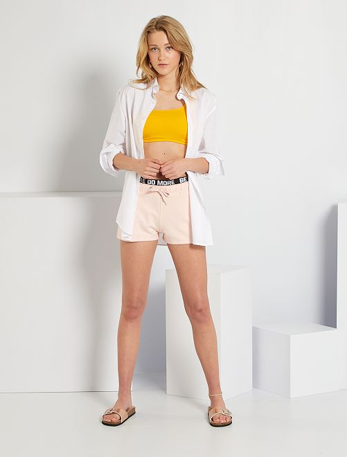 Short van molton 'Ecodesign'                                                                             ROSE