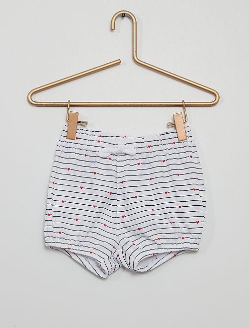 Shorts van katoenen voile                                                                 BLAUW