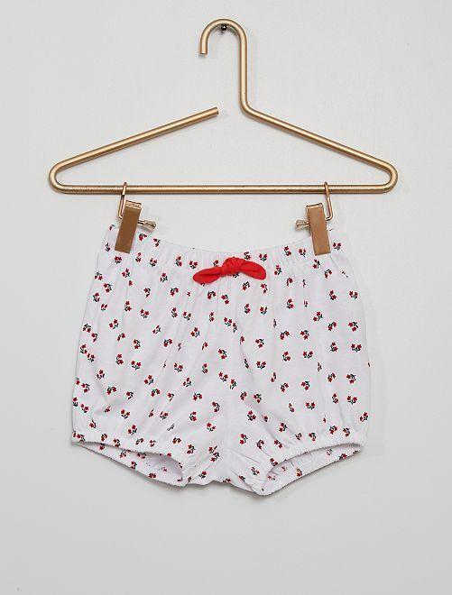 Shorts van katoenen voile                                                                 WIT