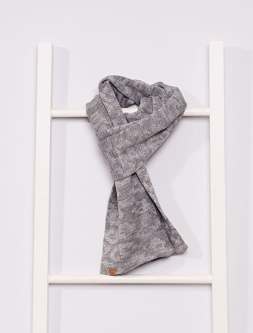 Sjaal met print                                         grijs
