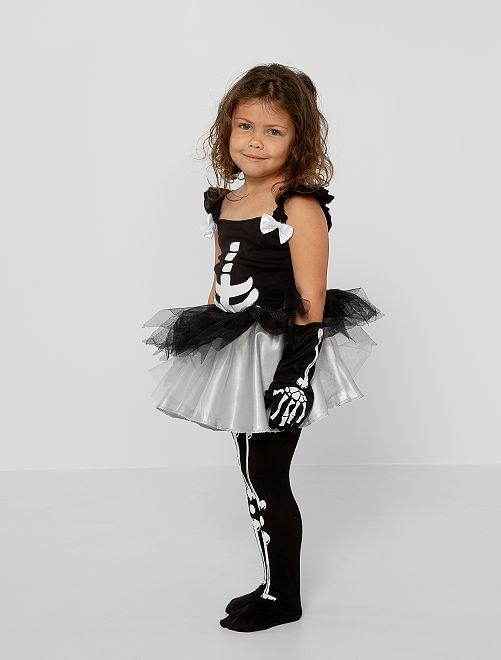 Skelet verkleedkleding                             zwart / wit