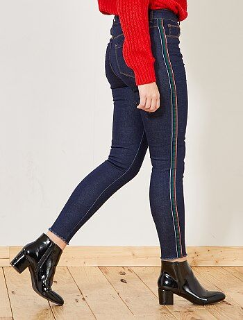 Skinny broek met streep aan de zijkanten - Kiabi