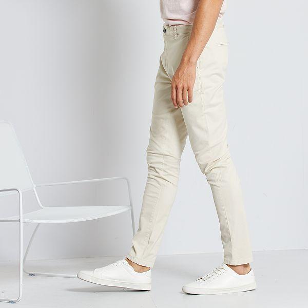 Prerusavanje Sat Mekan Pantalon Beige Skinny Hombre Randysbrochuredelivery Com