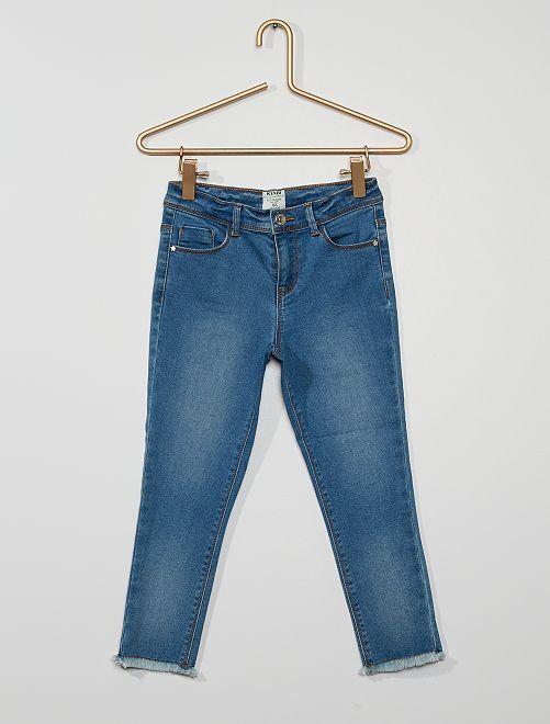 Skinny driekwartbroek van stretchkatoen 'Ecodesign'                                                     BLAUW