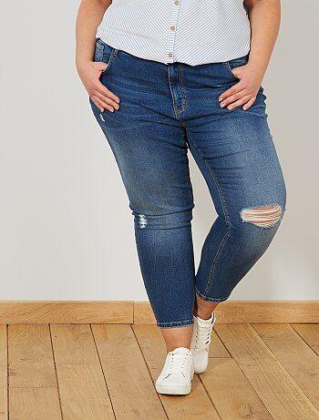 Skinny jeans met destroyed effect - Kiabi