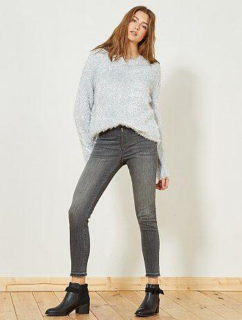 Skinny jeans met hoge taille - Kiabi