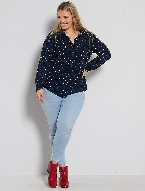 Skinny jeans met push-up-effect                                                                                         blauw