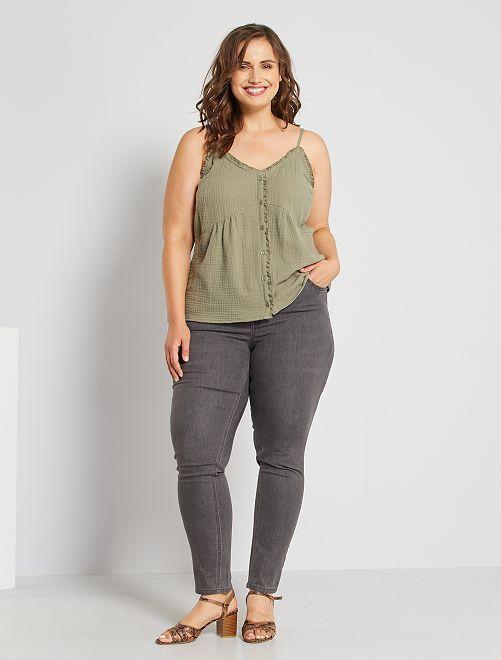 Skinny jeans met push-up-effect                                                                                 grijs