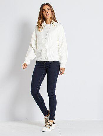 Skinny jeans met superhoge taille - Lengte US30 - Kiabi