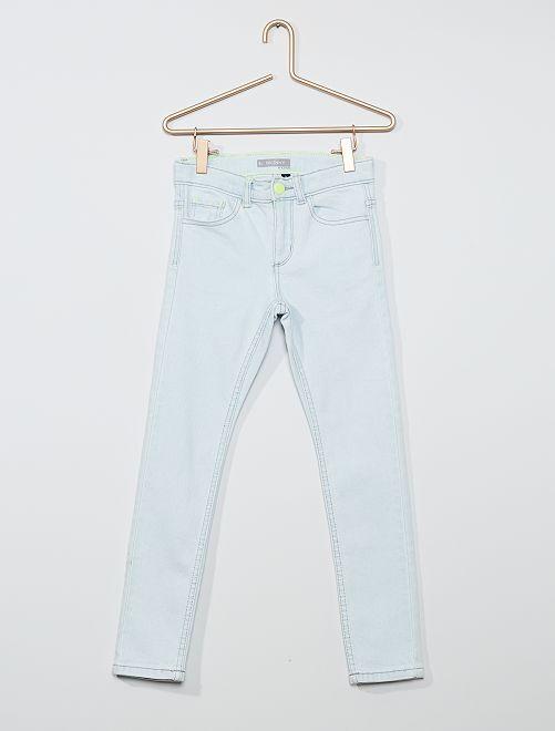 Skinny jeans van stretchkatoen                                         BLAUW