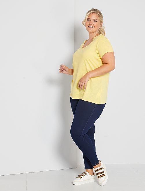Skinny jegging van stretch denim                                                                                         BLAUW