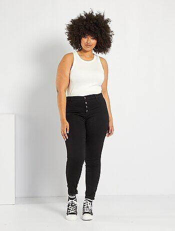 Skinny stretch jeans van denim met een hoge taille - Kiabi