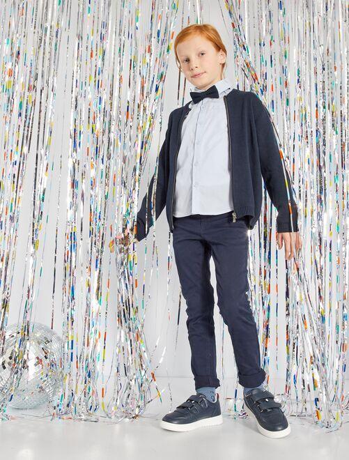 Skinnybroek met vijf zakken                                                                                                                             blauw