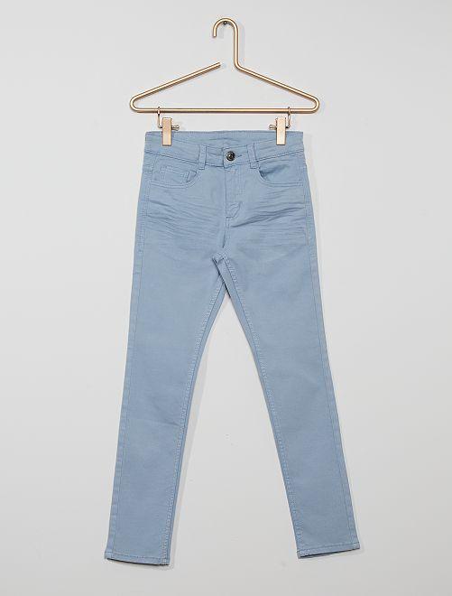 Skinnybroek met vijf zakken                                                                                                                             grijsblauw